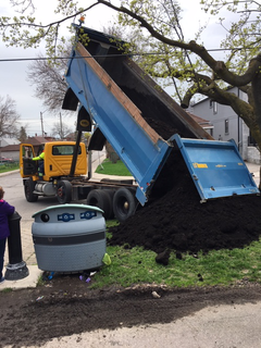 The city delivers compost